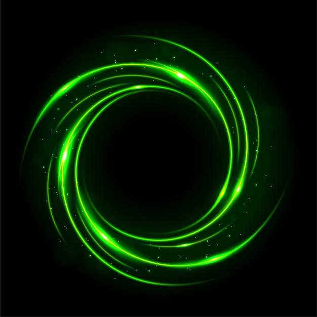 丸い緑色の光がツイスト