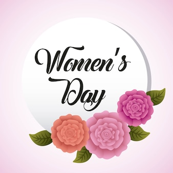 Round invitation womens day