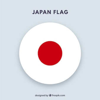 Round japanese flag background