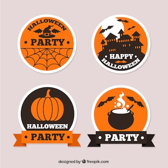 Round labels for halloween