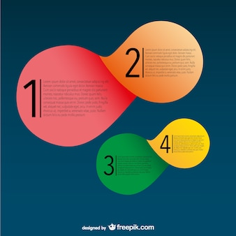 Round labels infographic