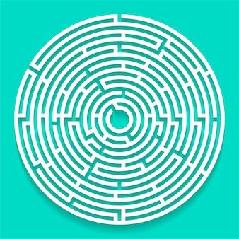 Round labyrinth maze