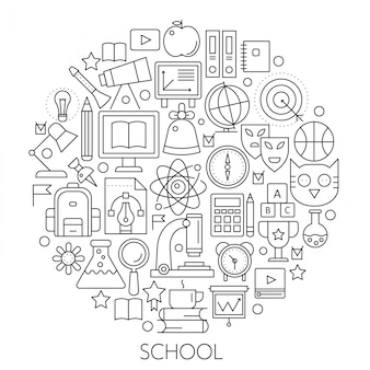 学校に戻るためのラウンドラインの概念