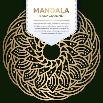Round luxury ornamental mandala pattern design in gold color   illustration