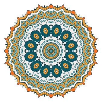 Round Mandala on white background