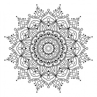 Round mandala on white background