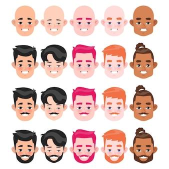Круглый мужской набор для лица и прически