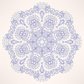 Круглый естественный фиолетовый узор