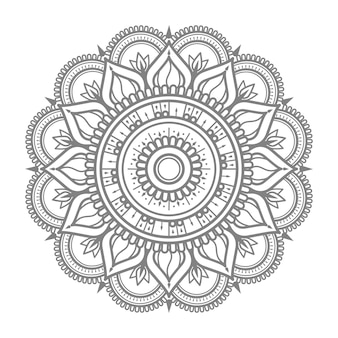Round ornament outline mandala