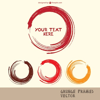 Round paint strokes frames collection