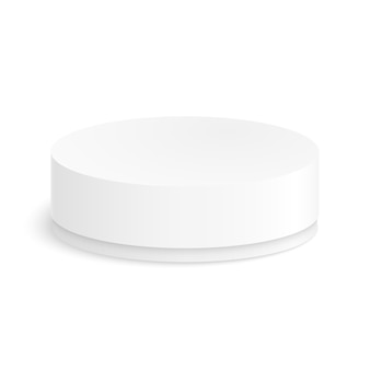Round paper box for your design on a white background.