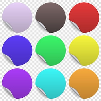 Round paper sticker template