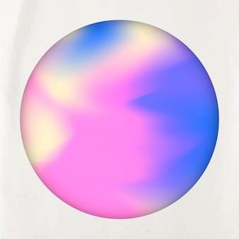 Round pastel holographic background