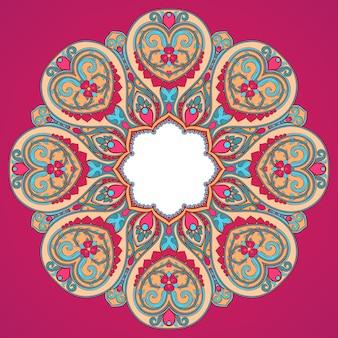 Круглый розовый узор