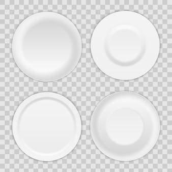 Round plate dish, porcelain soup utensil, bowl.