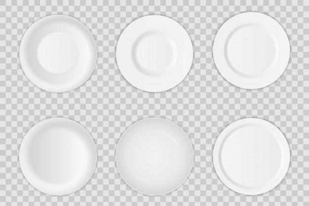 Round plate dish