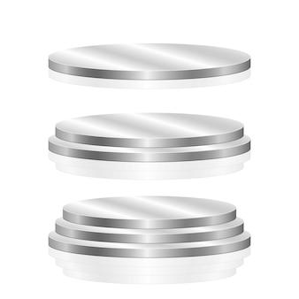 Round podium   illustration  on white background