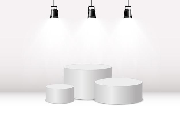Круглый подиум или площадка на прозрачном фоне.