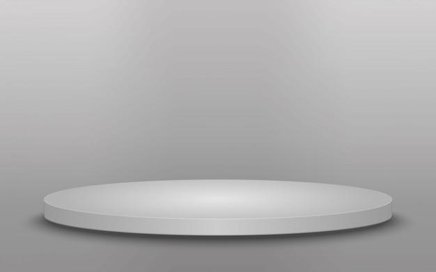 Round podium, pedestal or platform isolated