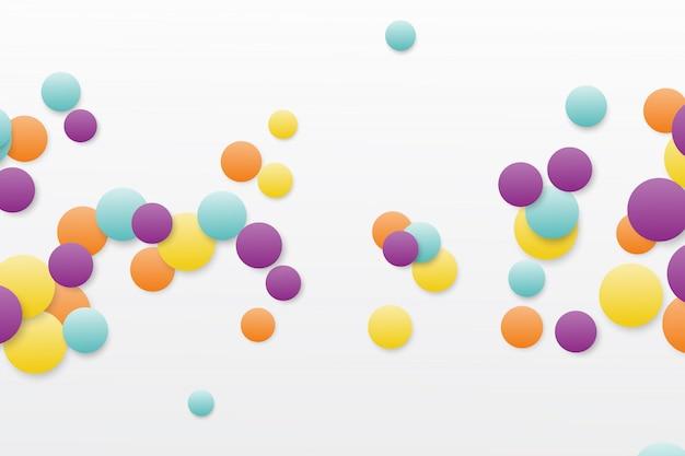 Round random colored bubble background