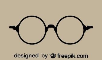 Round Retro Glasses Icon