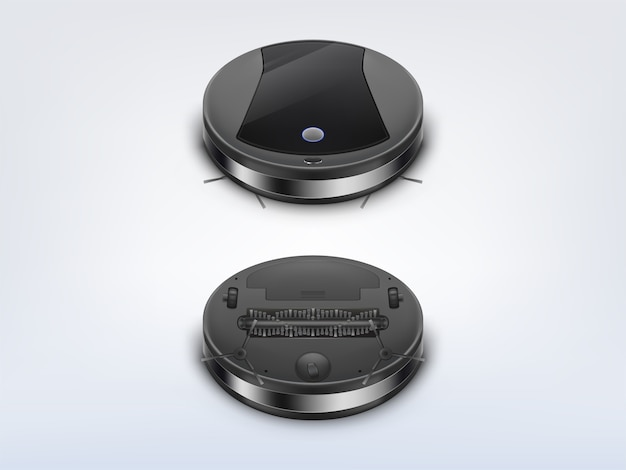 Round robot vacuum cleaner top