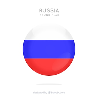 Round russian flag background