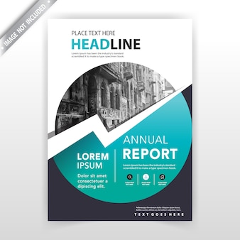 Round shape flyer cover