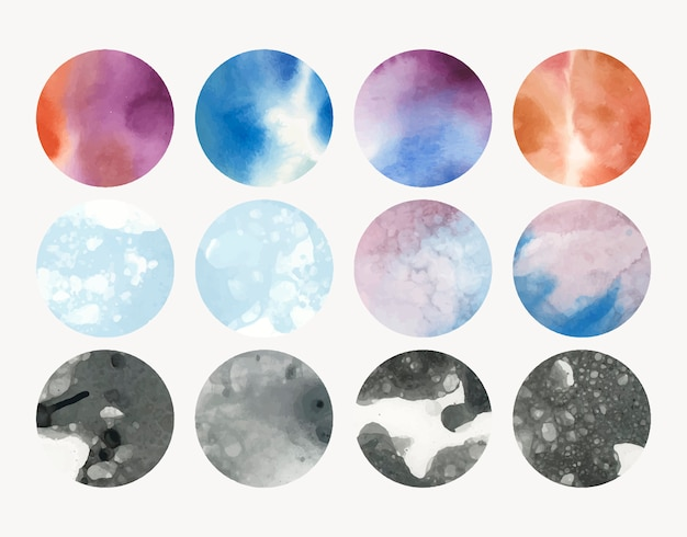 Round shaped watercolor background