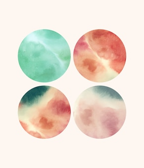 Round shaped watercolor backgrounds