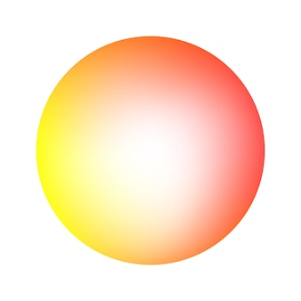 Round soft warm color gradient. abstract shape background. vector illustration