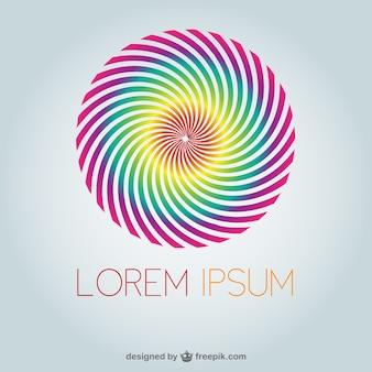 Round spiral logo