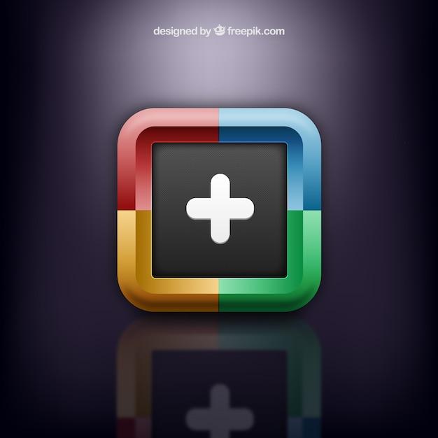 Round square logo in colorful style Premium Vector