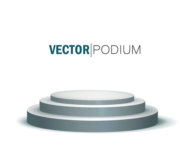 Round stage podium isolated