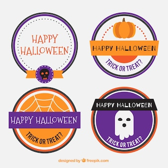 Round stickers for halloween