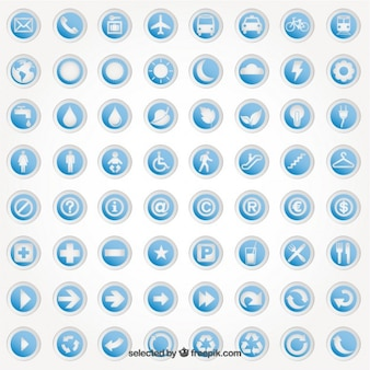 Round stickers with icons