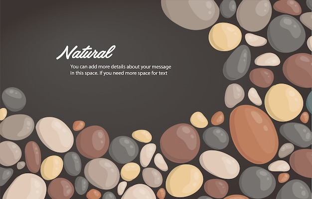 Round stone background and space for write vector