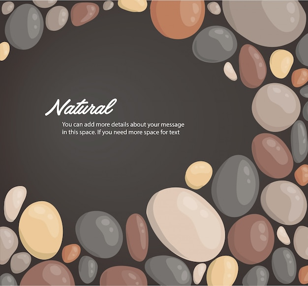 Round stone background and space for write