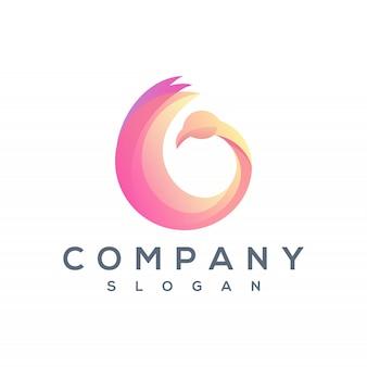 Round swan logo vector