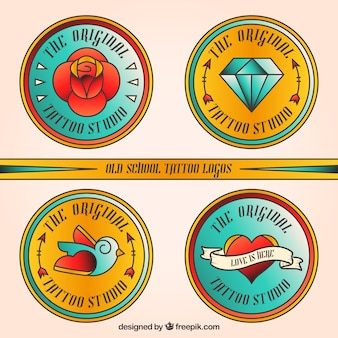 Round tattoo logos