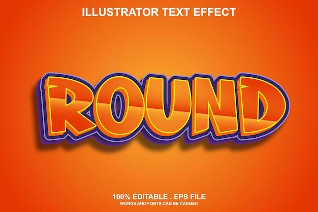 Круглый текстовый эффект редактируемый
