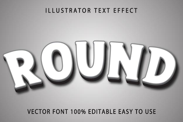 Round text effect