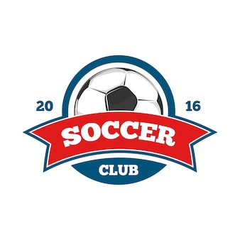 Шаблон логотипа круглого векторного футбола
