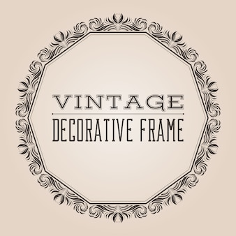 Round victorian style vintage border frame