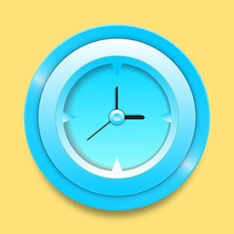 丸い壁時計の3dアイコンのデザイン