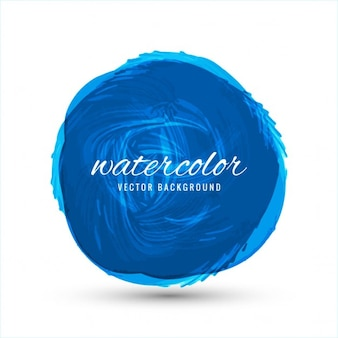 Round watercolor background