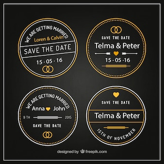 Round wedding badges