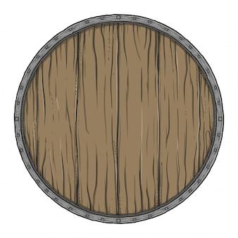 丸い木の看板