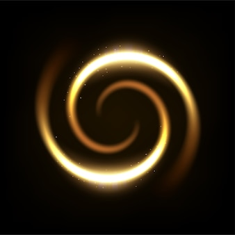 Round yellow light twisted