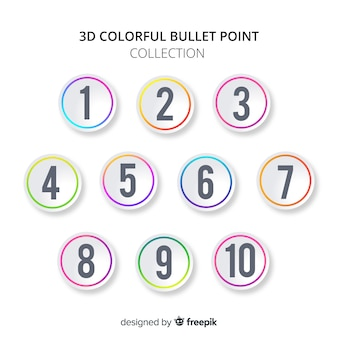 Rounded bullet point collection